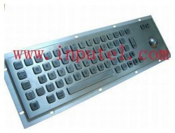 Stainless steel keyboard with integrated trackball...