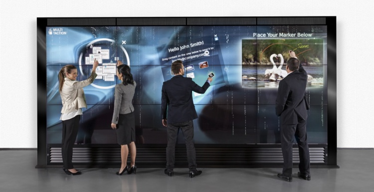 Photo: MultiTouch to showcase new  9-unit MultiTaction iWall at GITEX...