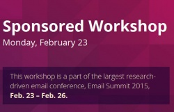 Retail Personalization workshop at MarketingSherpa Email Summit 2015...