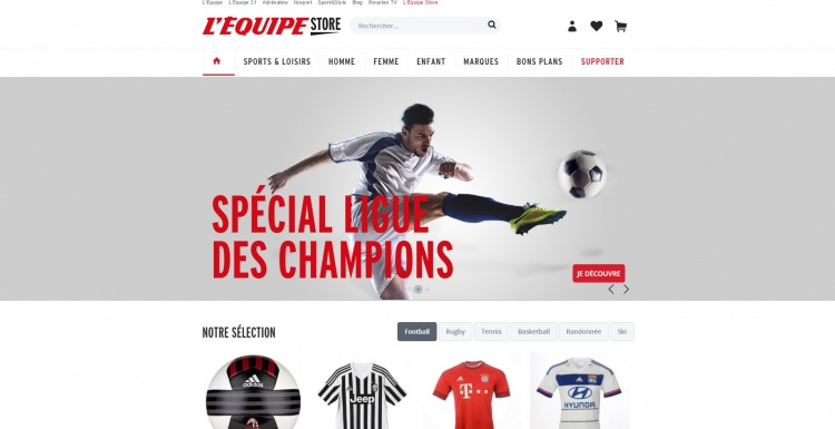 Photo: L'Équipe launches marketplace for sports products...