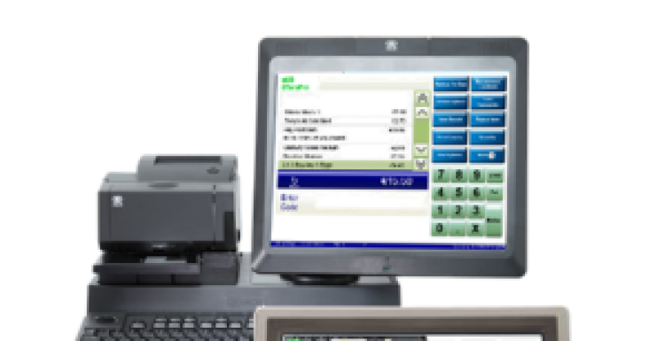 Photo: Highly flexible POS solution for the food and drug industry...