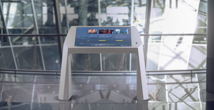 Photo: Multitouch solution improves traveller experience at Frankfurt Airport...