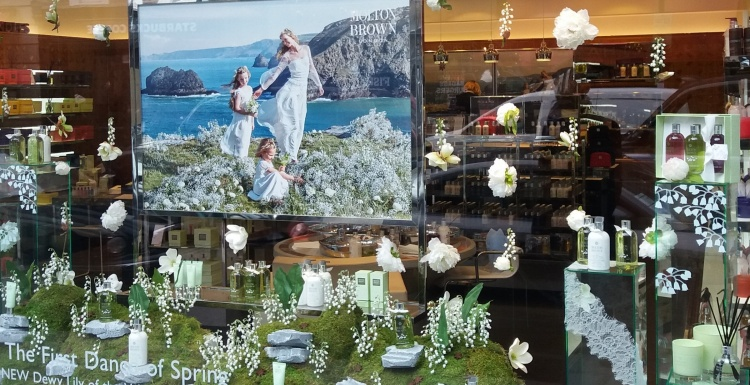 Photo: Window displays in London: Spring motifs
