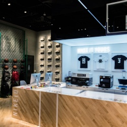 Thumbnail-Photo: Inside the Nike & Jordan Basketball experience store in Beijing...