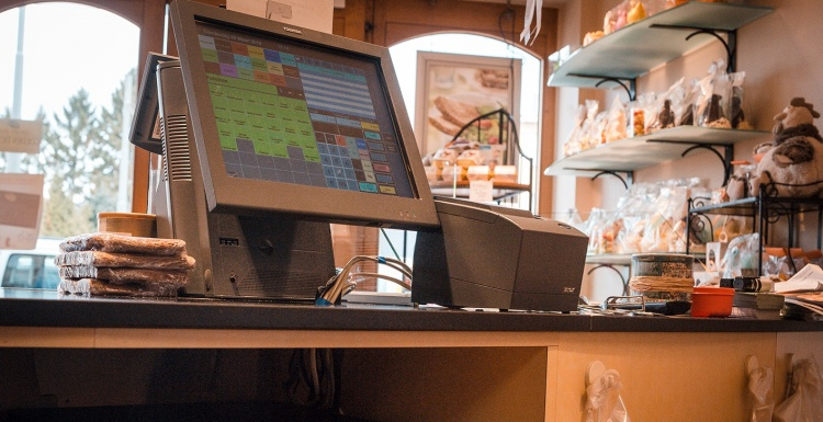 Cash register in a bakery; copyright: APG Cash Drawer...