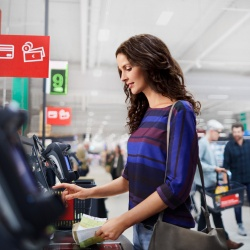 Thumbnail-Photo: German retailer roll-out of NCR self-checkouts...