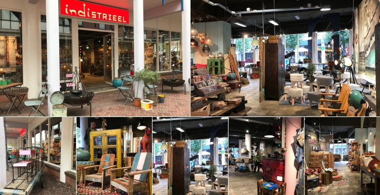 Photo: What shop design can look like: Indistrieel - India meets Industrial...