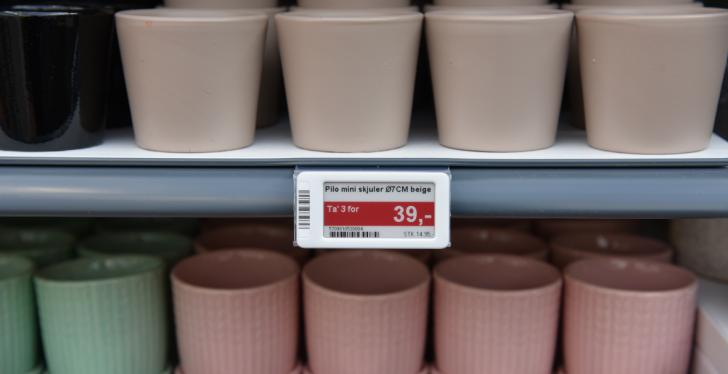 electronic shelf labels; Copyright: Plantorama