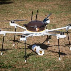 Thumbnail-Photo: UPS applies for certification to operate drone delivery unit...