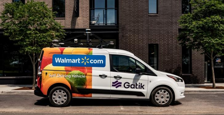 Walmart delivery truck on the road; copyright: Walmart...