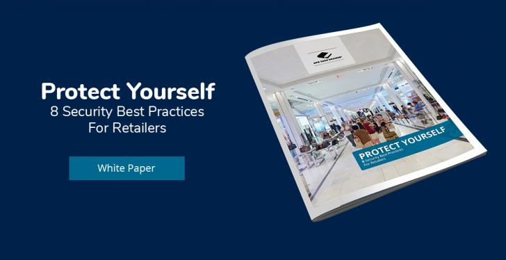 advertising banner for the whitepaper on security best practices for retailers...