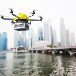 Thumbnail-Photo: Demand for drone delivery in e-retail is high...