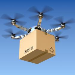 Thumbnail-Photo: Delivery drones instead of postal vans?