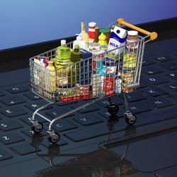 Thumbnail-Photo: Growth of online grocery sales in 2020