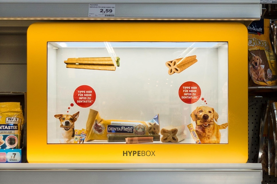 Photo: Displays for the POS: from cardboard display to digital signage element...
