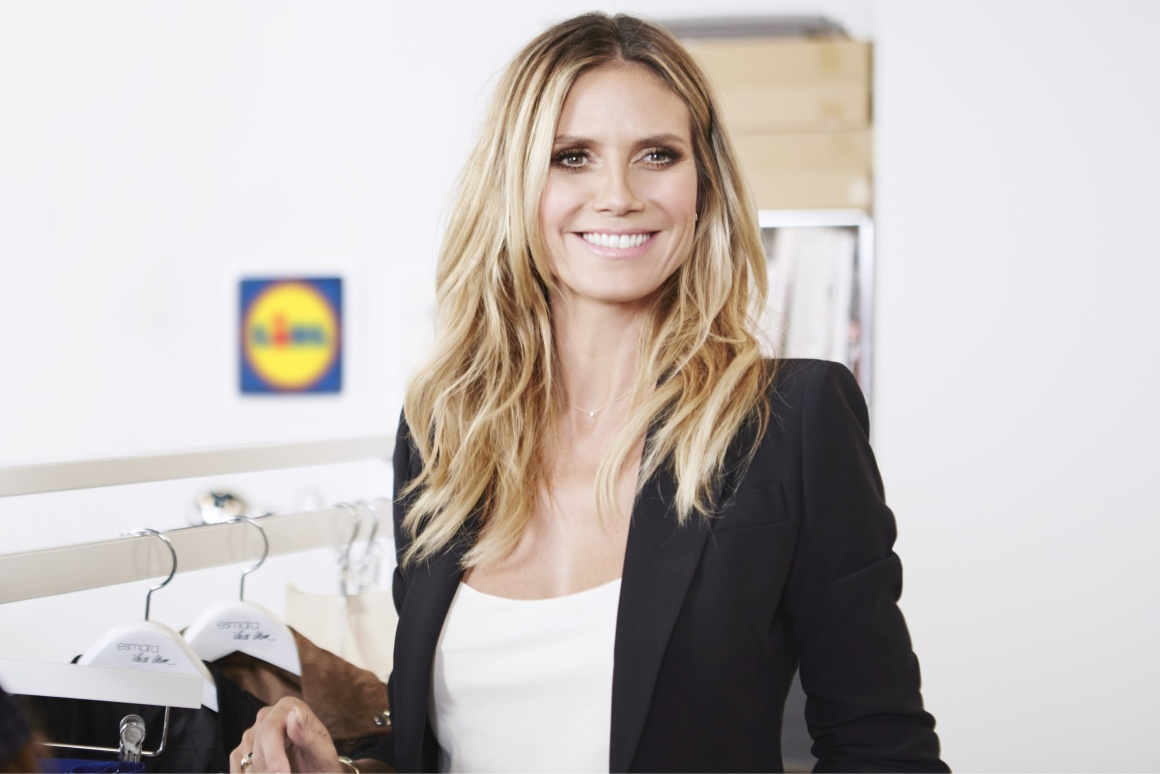 Heidi Klum is presenting her Esmara collection.