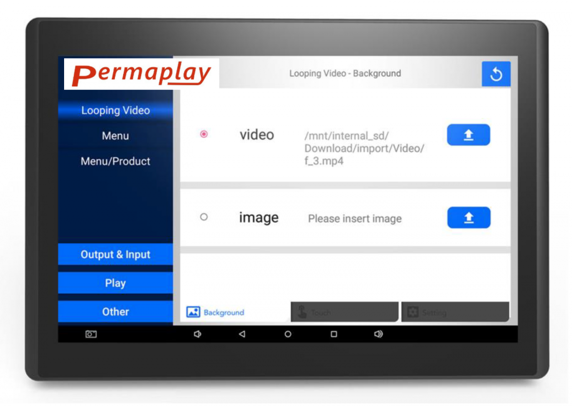POS TOUCH software selection screen; copyright: Permaplay Media Solutions GmbH...