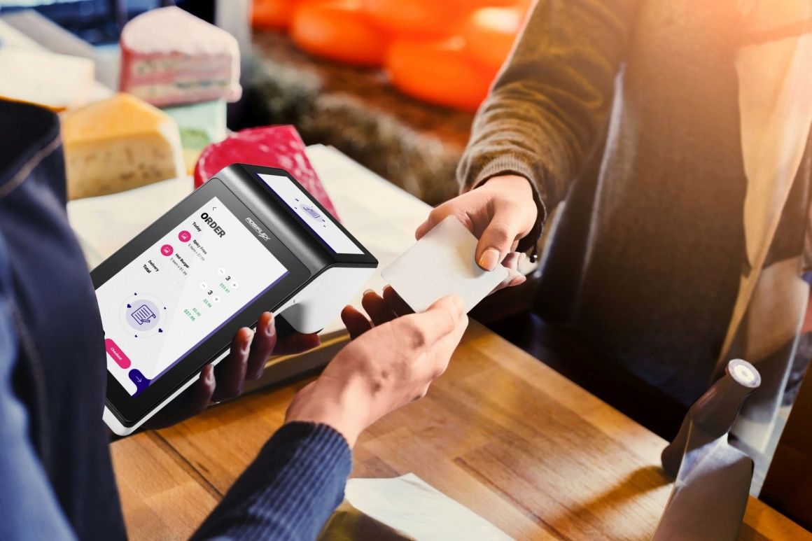 Android-based new cash register system in tablet format...