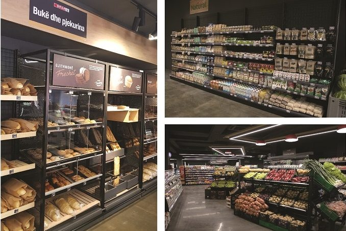 SPAR store from the inside, collage of three pictures; copyright: SPAR...
