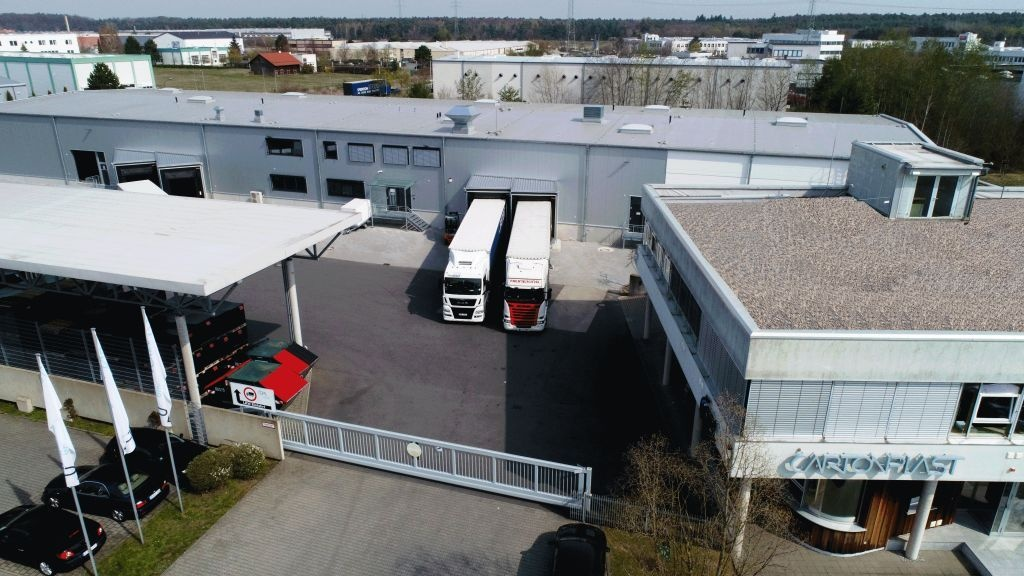 Cartonplast service center in Dietzenbach: top view...