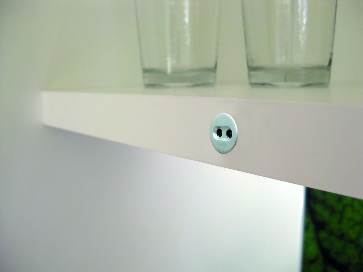 Smart and adjustable lighting on a shelf in the kitchen...