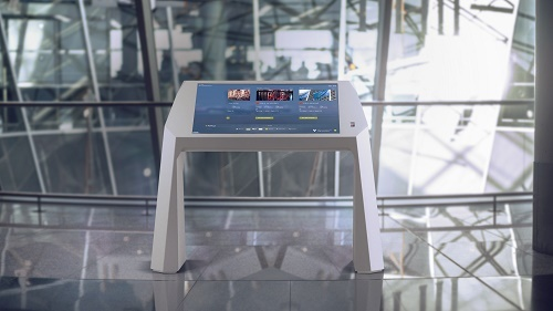 The Interactive Airport Desks are part of the Fraport AG digitisation strategy...