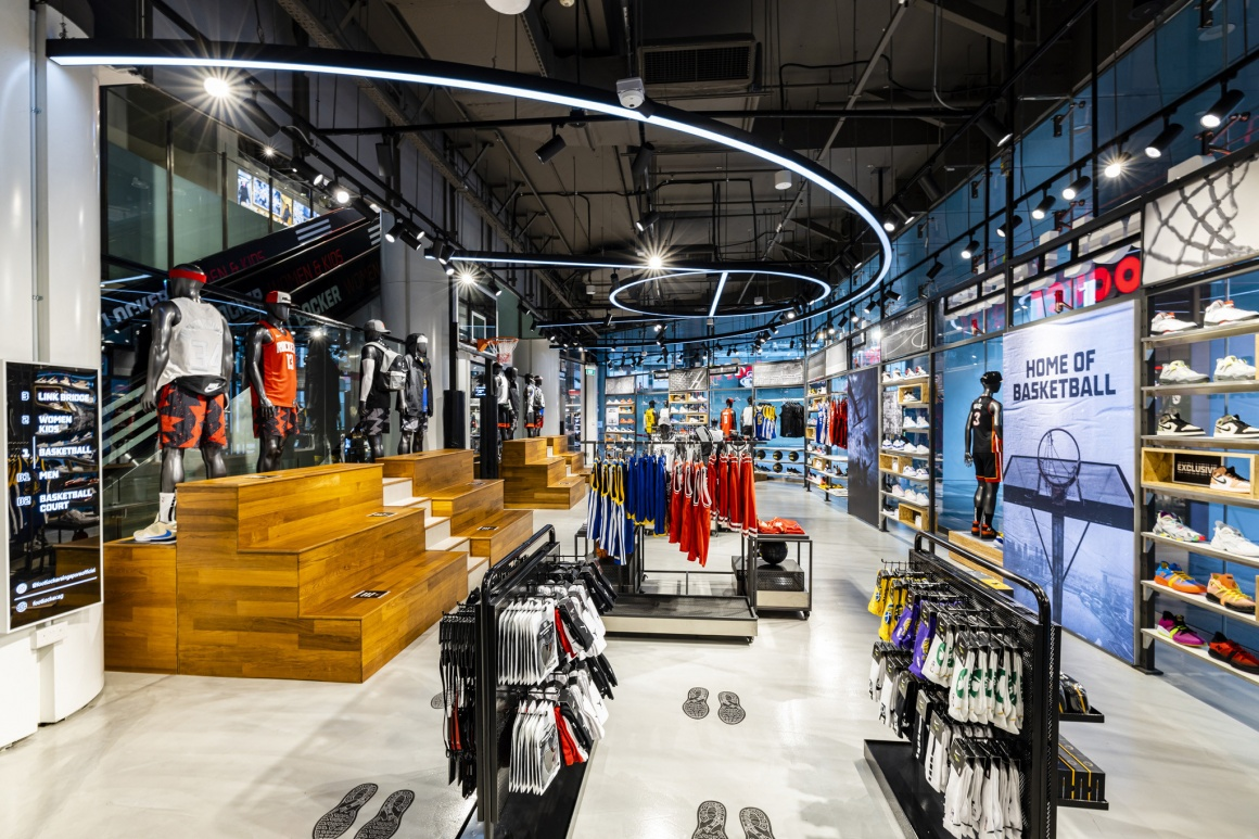 The inside of a foot locker sneaker store