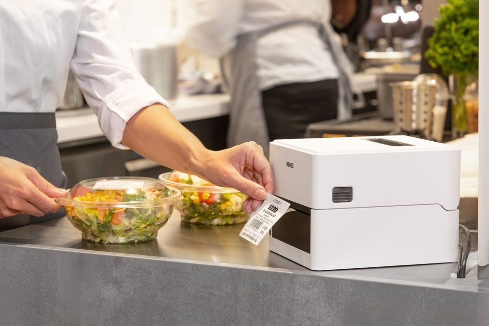A printer in a catering kitchen