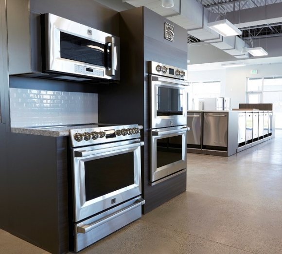 The new store showcases a wide assortment of appliances....